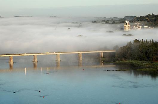 vallée de la Loire vue d'une mongolfière