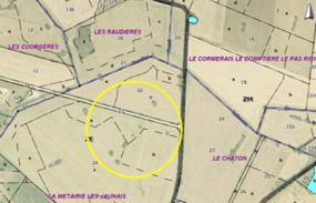 Plan du lieu-dit Le Jarrier à Ligné