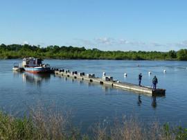 déplacement du ponton en Loire
