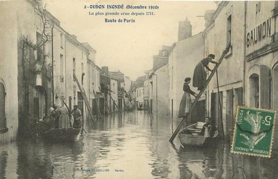 rue Fouschard inondée - Oudon(44)